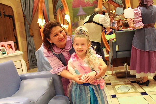 8 Our princess and her fairy godmother - Bibbidi Bobbidi Boutique review/tips
