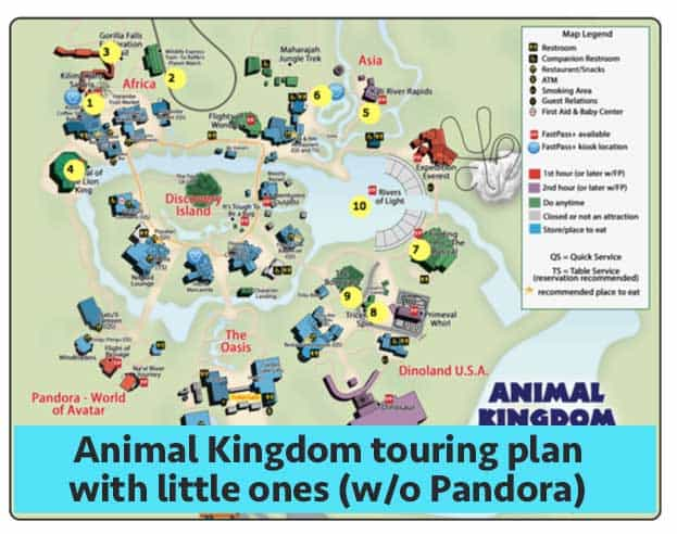 AKlittleoneswithoutpandora 1   Animal Kingdom Touring Plans For 2018 (with  FastPass+ Suggestions)