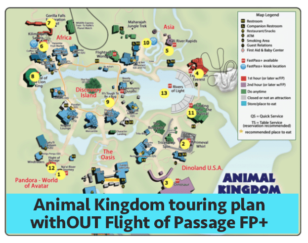 AKwithoutFoPfastpass - Animal Kingdom touring plans for 2018 (with FastPass+ suggestions)
