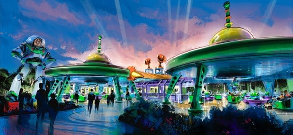 Alien Swirling Saucers 600x277 - Everything we know about the new Toy Story Land