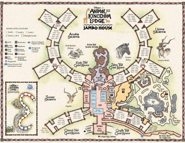 Animal Kingdom Lodge map