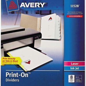 Avery Print-on divider