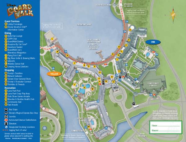 Boardwalk Inn and Villas map