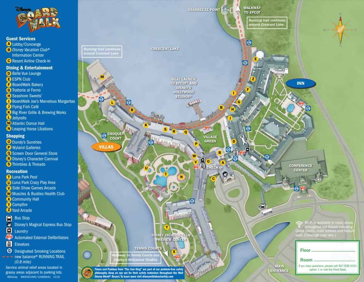 Boardwalk Inn map