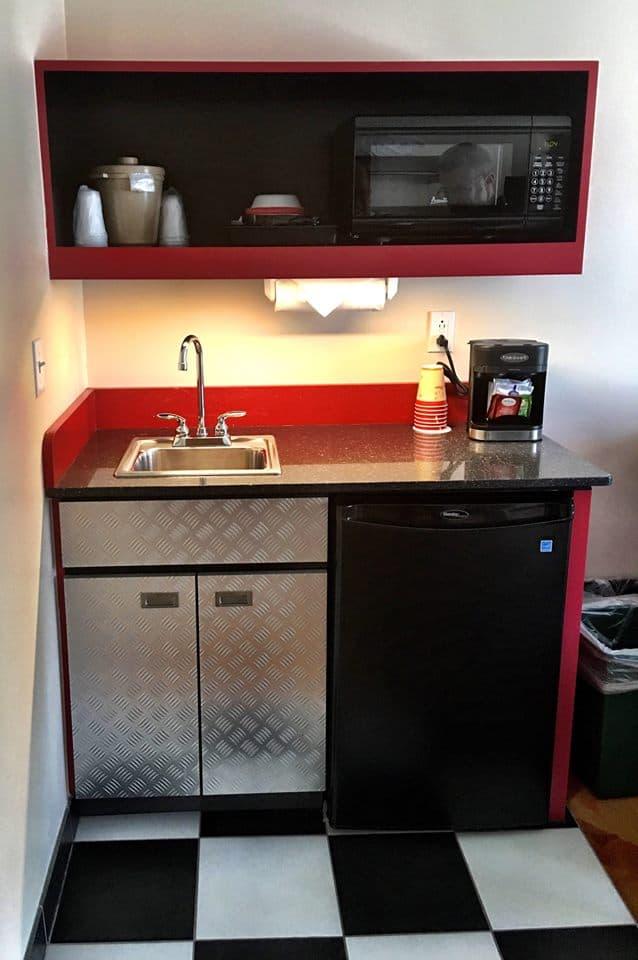 Cars suite kitchenette