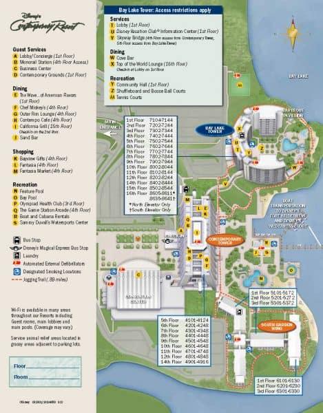 Contemporary Resort Map