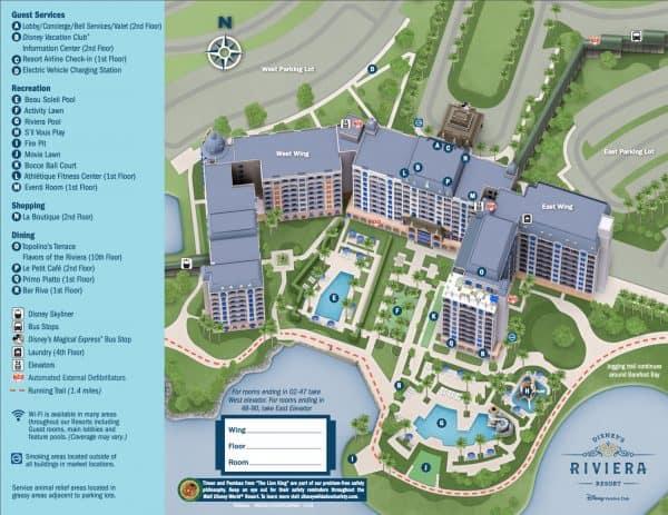 Disney Riviera Resort Map