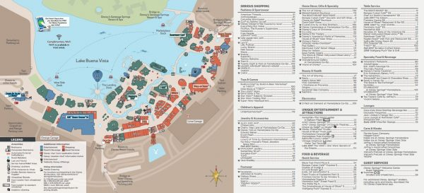 Disney springs map 600x273 - Wyndham Garden Lake Buena Vista - Disney Springs Resort Area
