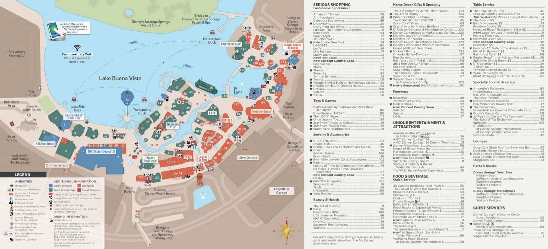 Disney Springs Map
