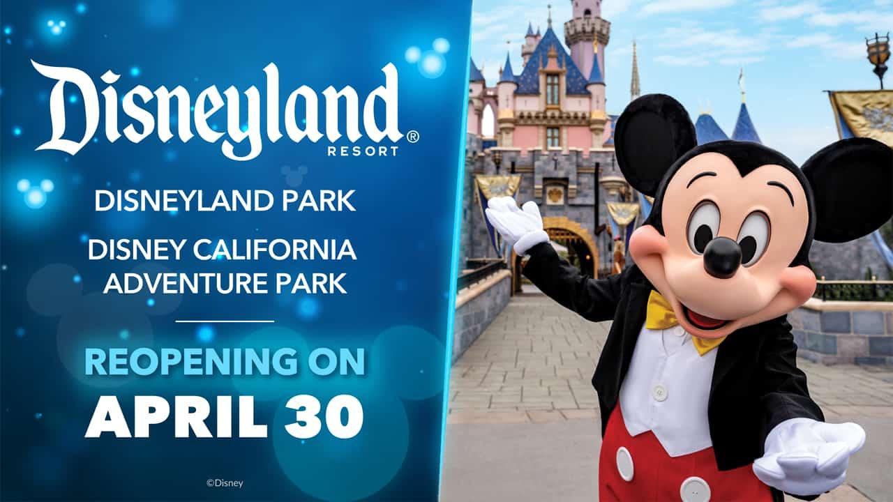 disneyland reopening date announcement