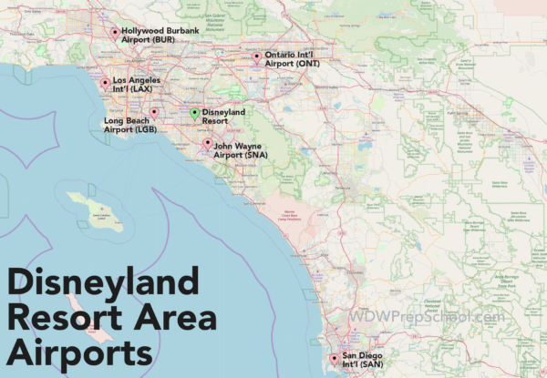 Disneyland Area Airports