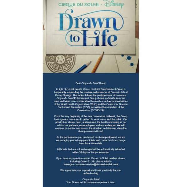 Drawn to life special advisory