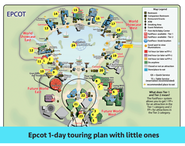 EP Little Ones - Epcot touring plans for 2018 (with FastPass+ suggestions)