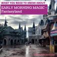 Early Morning Magic - fantasyland