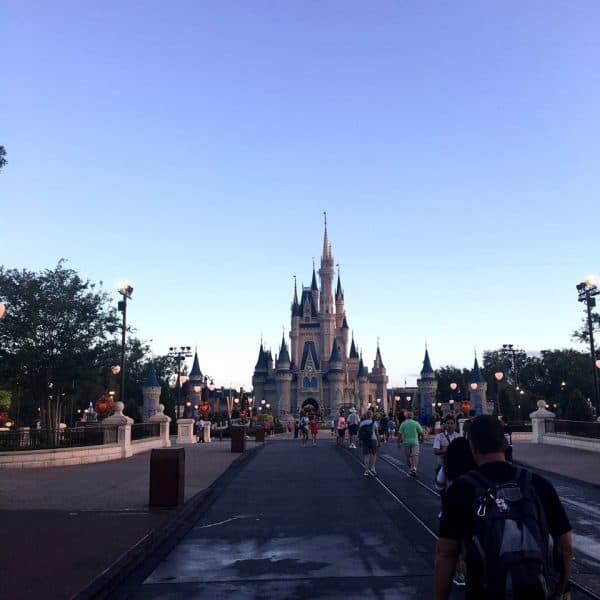 Early Morning Magic walking into the park 600x600 - A guide to Early Morning Magic – Fantasyland at Magic Kingdom
