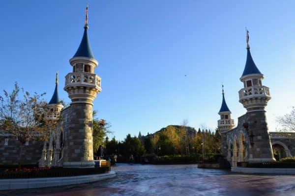 Empty New fantasyland Magic Kingdom near Philharmagic