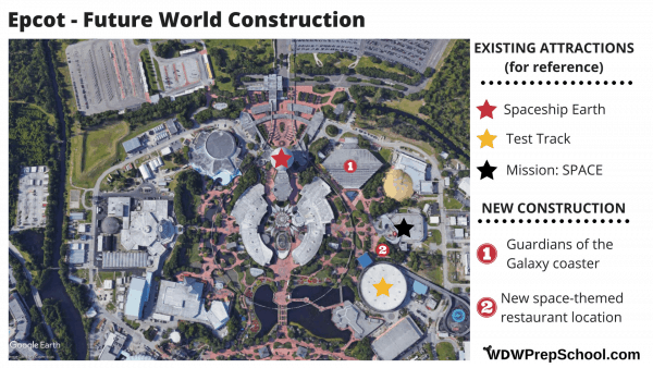 Epcot - Future World construction map