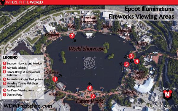 Epcot Illuminations Fireworks Viewing 1 600x375 - The best nighttime show and fireworks viewing spots at Disney World