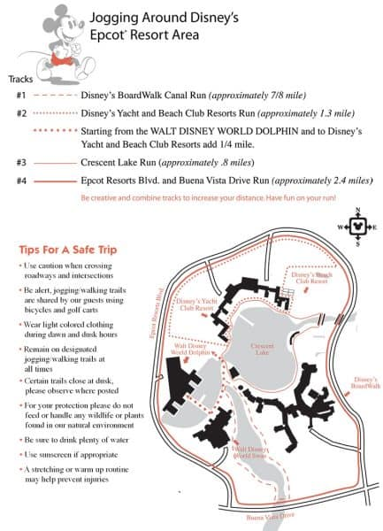 Epcot Area Jogging Map