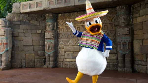 Epcot character meet donald duck mexico 00 600x338 - Guide to all Epcot rides and attractions