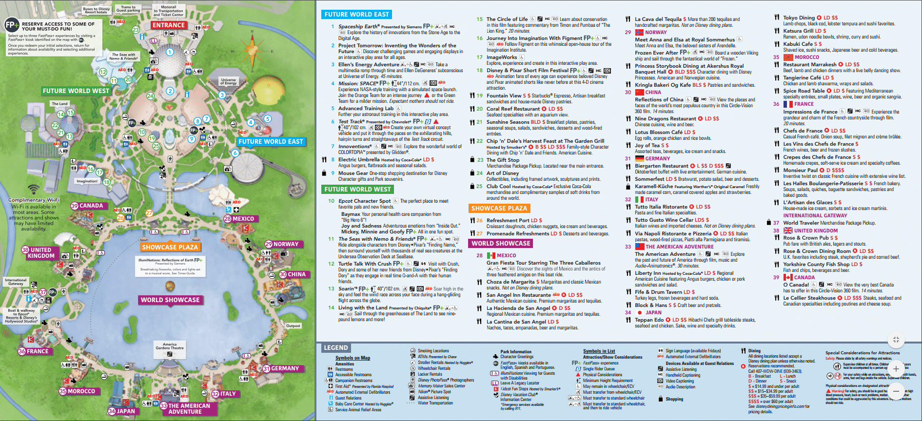 Epcot map - Complete guide to Epcot