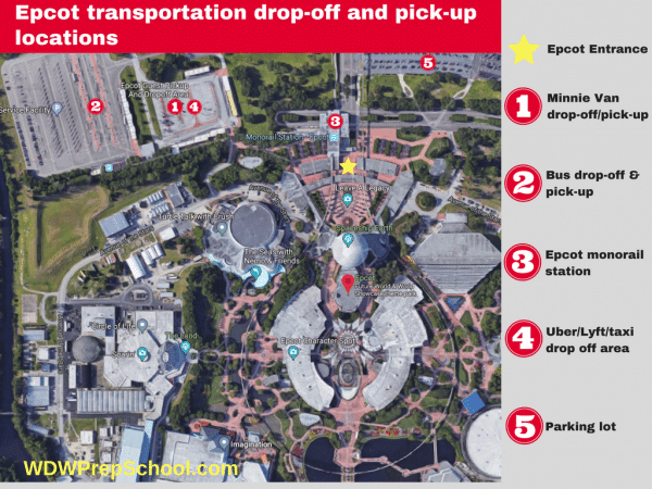 Epcot transportation locations 600x450 - Minnie Vans now available at all resorts! Here's how they work.