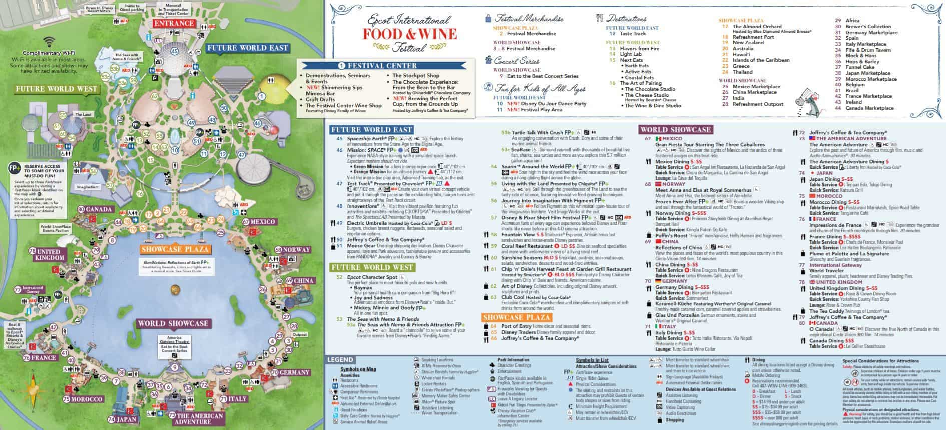 Bright image for printable epcot map