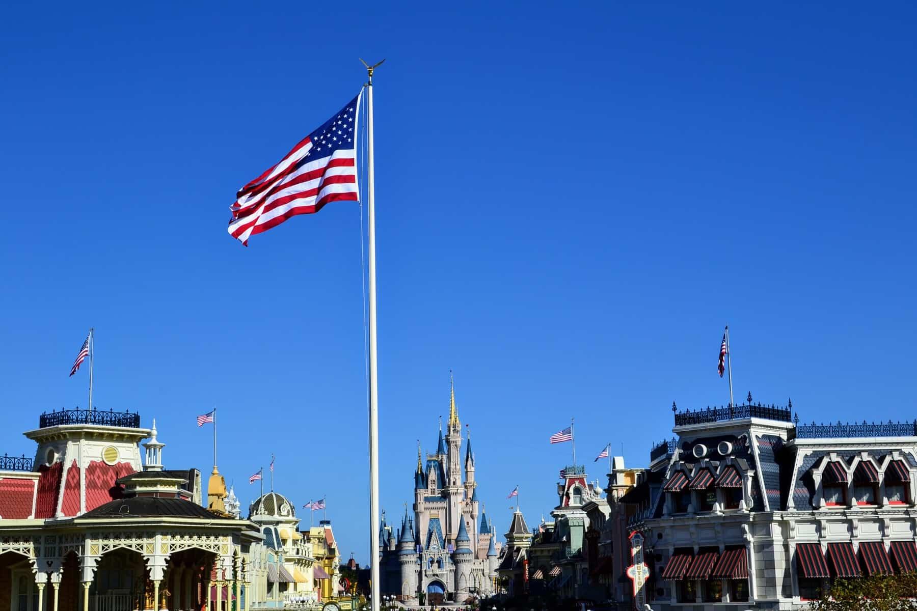 Flag on Main Street USA