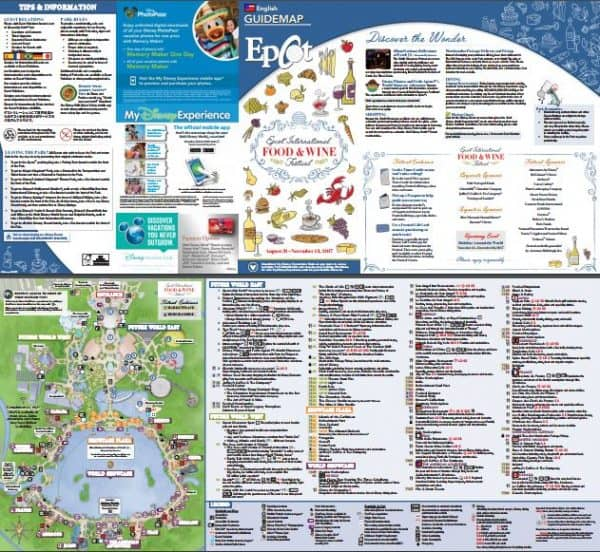 Food and Wine festival 600x552 - Disney World maps - download for the parks, resorts, parties + more