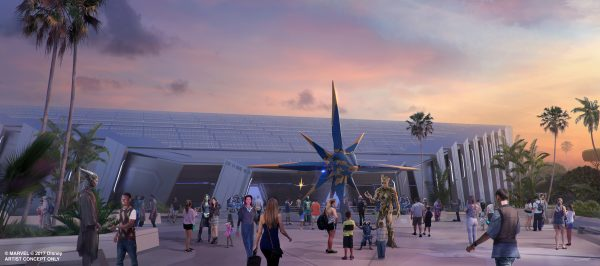 Guardians of the Galaxy exterior Epcot
