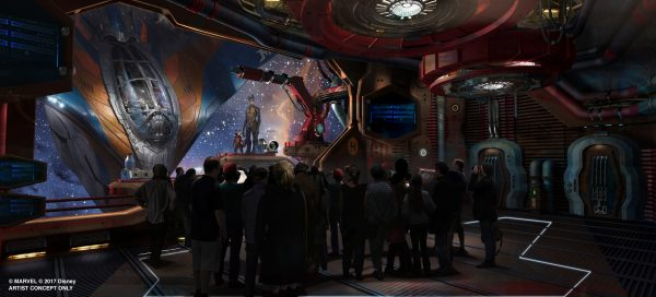 Guardians of the Galaxy epcot interior