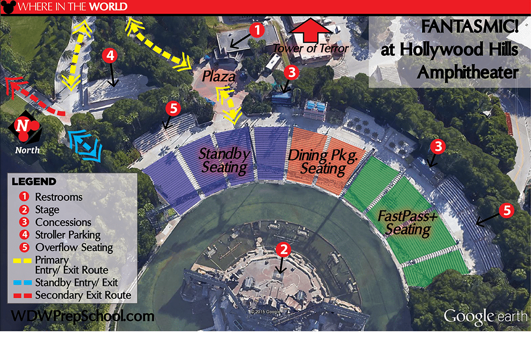 HS Fantasmic Theater Layout   The Best Nighttime Show And Fireworks Viewing  Spots At Disney World