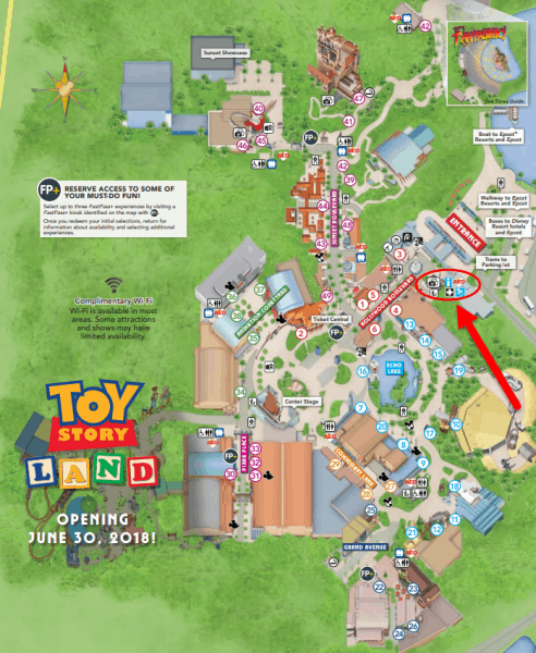 Map of Baby Care Center at Hollywood Studios