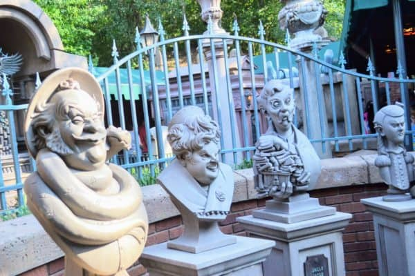 Haunted Mansion Busts