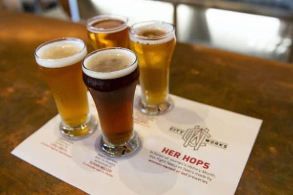 her hops beer at city works in disney springs