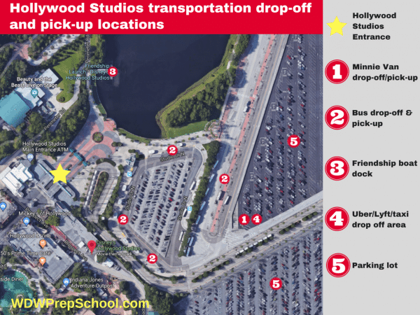 Hollywood Studios transportation locations 600x450 - Minnie Vans now available at all resorts! Here's how they work.