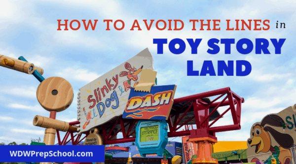 How do you avoid the lines in Toy Story Land