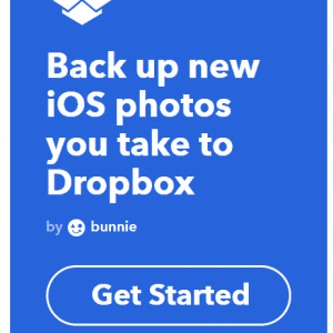 IFTTT Back up to dropbox