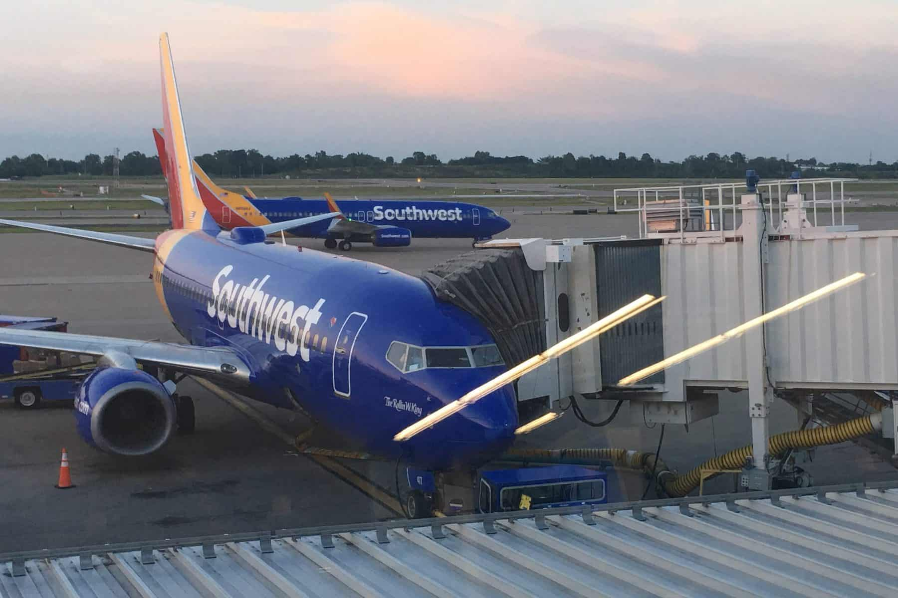 southwest flight at airport