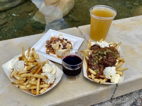 refreshment port food and wine menu items