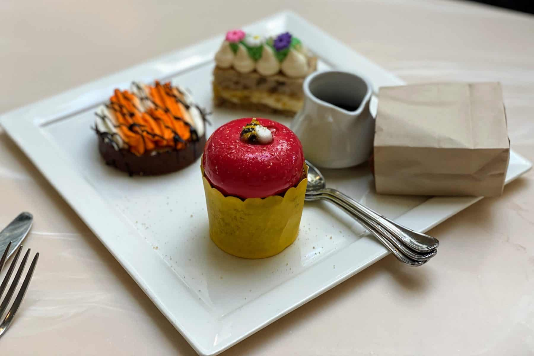 Desserts at Crystal Palace