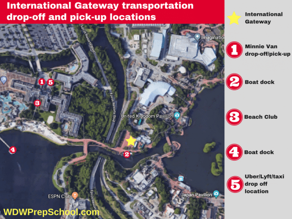 International Gateway transportation options 600x450 - Minnie Vans now available at all resorts! Here's how they work.