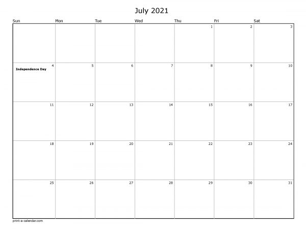 Printable calendar for Disney World