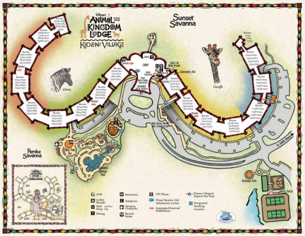 Kidani village 600x465 - Disney World maps - download for the parks, resorts, parties + more
