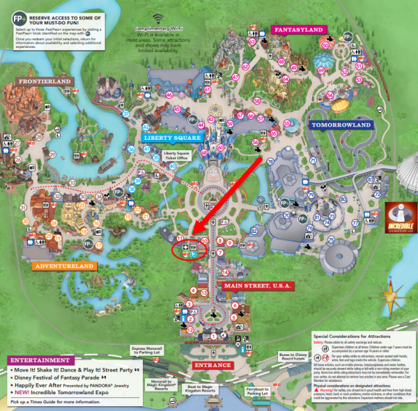 Map of Baby Care Center at Magic Kingdom