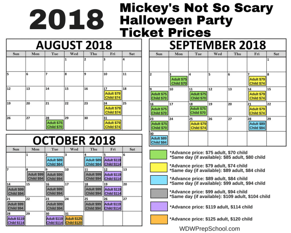 Mickeys Not So Scary Halloween Prices