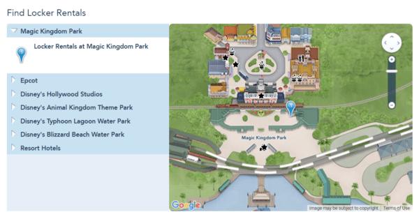 Magic Kingdom locker locations