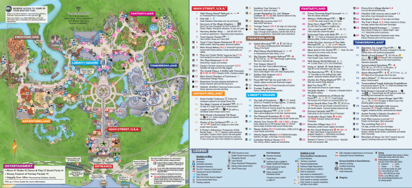 Magic Kingdom map 600x274 - How to handle the crowds at Disney World