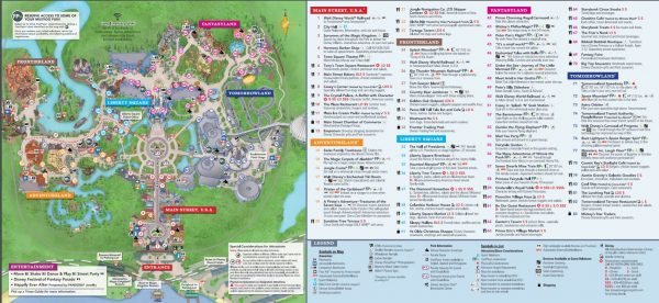 Magic Kingdom Park Map