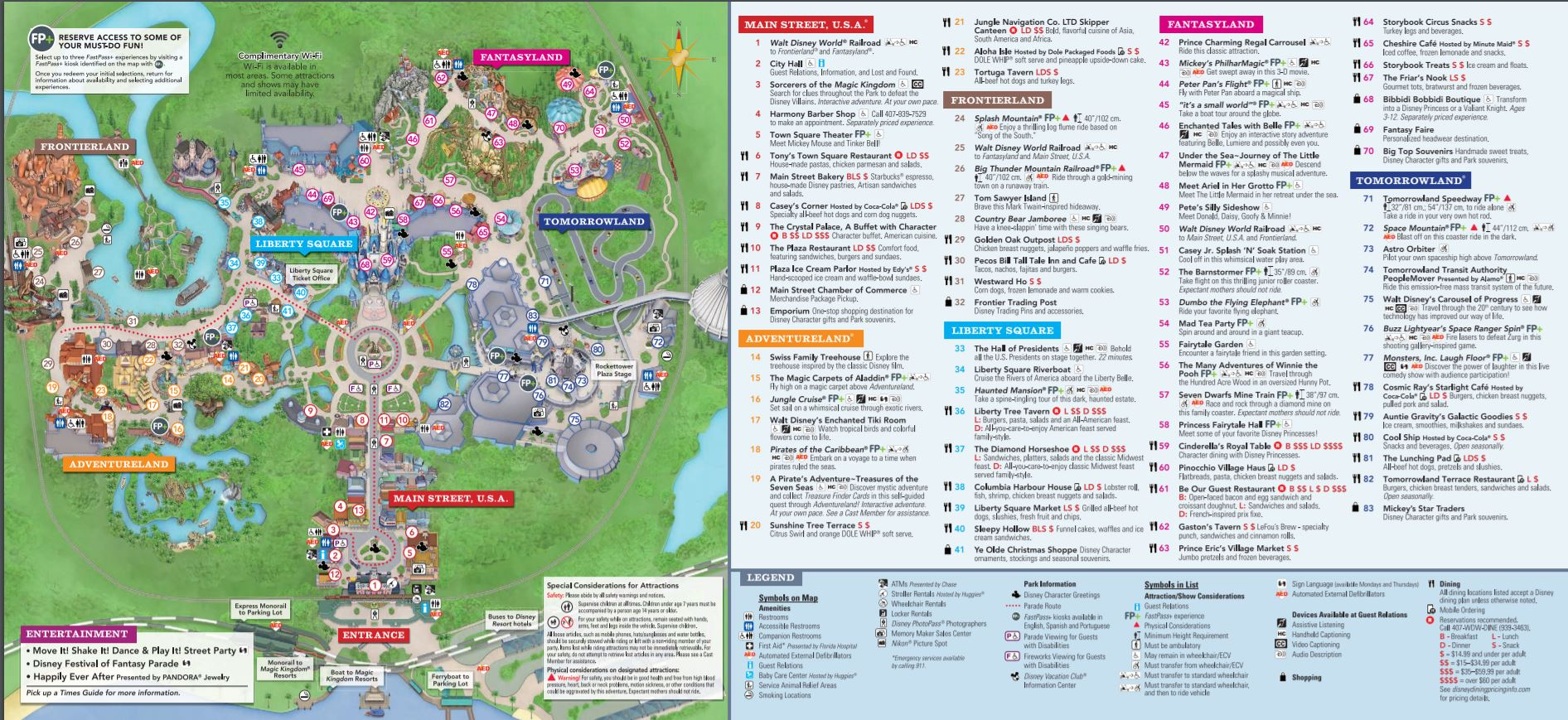 Fan image for magic kingdom printable map